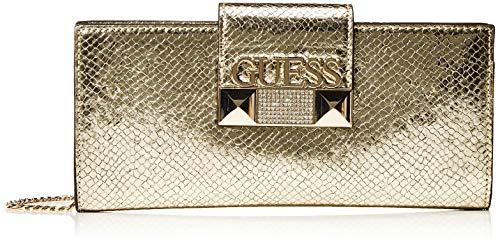 Guess - Jazzie, Bolso de mano Mujer, Dorado (Gold), 4.5x12x26 cm (W x H L)