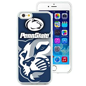 Beautiful Designed With Ncaa Big Ten Conference Football Penn State Nittany Lions 10 Protective Cell Phone Hardshell Cover Case For iPhone 6 4.7 Inch TPU Phone Case White