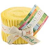 Bella Solids 30s Yellow Jr Jelly Roll (9900JJR 23) by Moda House Designer for Moda