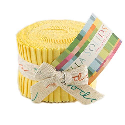 (Bella Solids 30s Yellow Jr Jelly Roll (9900JJR 23) by Moda House Designer for Moda)