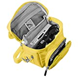 Orzly Travel Bag for Nintendo DS Consoles (New 2DS XL / 3DS / 3DS XL / New 3DS / New 3DS XL / Original DS / DS Lite / DSi / etc.) - Includes Belt Loop, Carry Handle, Shoulder Strap - YELLOW