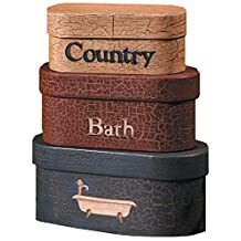 Your Hearts Delight 8 by 4-Inch Country Bath Nesting Boxes, Large