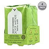 BeautyFrizz Green Tea Facial Cleansing Wipes (4 Pack)