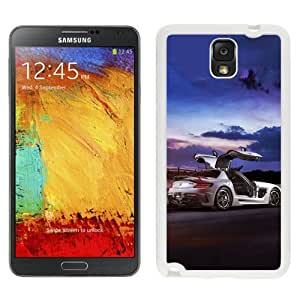 NEW Unique Custom Designed Samsung Galaxy Note 3 N900A N900V N900P N900T Phone Case With Mercedes SLS AMG Coupe Black Series_White Phone Case