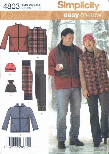 Amazon.com: Simplicity Sewing Pattern 4803 Chest Size 40-50\