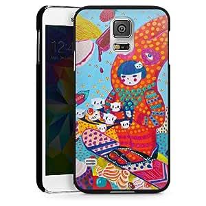 Carcasa Design Funda para Samsung Galaxy S5 HardCase black - Snowboard