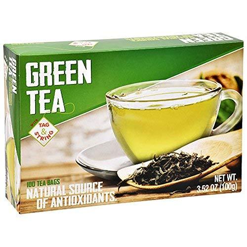 Greenbrier International Green Tea 3.52 oz 100 Tea Bags Per Box ()