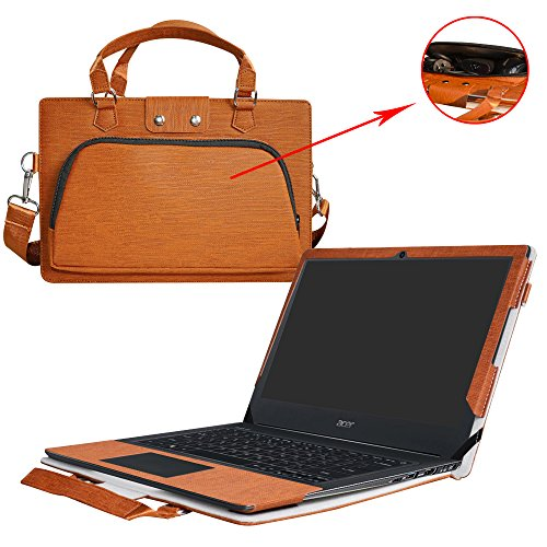 Aspire S 13 Case,2 in 1 Accurately Designed Protective PU Leather Cover + Portable Carrying Bag for 13.3