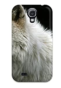 New Tpu Hard Case Premium Galaxy S4 Skin Case Cover(white Wolf)
