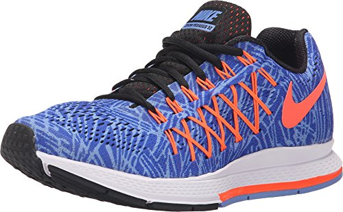 IKE Womens air Zoom Pegasus 32 Print Running Trainers 806806 Sneakers Shoes (US 6, Racer Blue Hyper Orange 400)