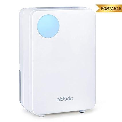 Déshumidificateur Electrique Aidodo d\'air Deshumidificateurs Absorbeurs d  Humidite 800ml Réservoir d\'eau Mini Portable Dehumidifier pour la Maison,  ...