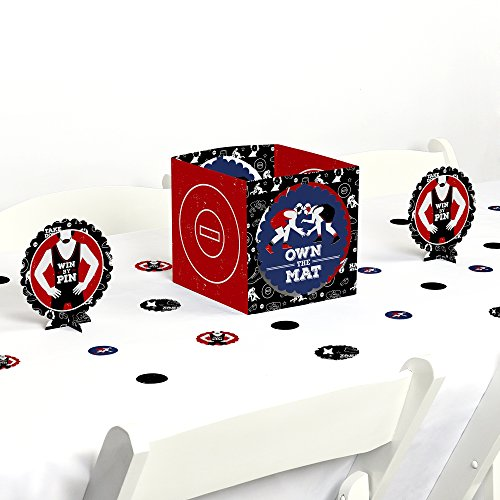 Own The Mat - Wrestling - Birthday Party or Wrestler Party Centerpiece & Table Decoration Kit by Big Dot of Happiness