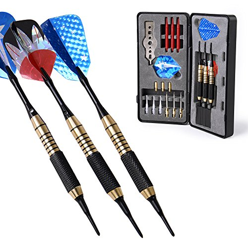 20 Steel Gram Tip Dart (W.M Darts Nice Packing Gift Box 18 / 20 Grams Darts Set (Soft Tip & Steel Tip))