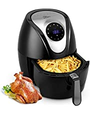 Heißluftfritteuse XL Fritteuse Uten Aerofryer 3,2L Air fryer mit digitalem Display, Touch-Control-Sensor und Rapid-Air-Umluft Technologie 1400W
