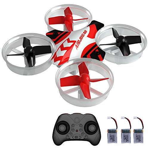 AIRJUGAR Mini Drone RC Nano Quadcopter for Kids and Beginners, RC Helicopter Plane with Auto Hovering, 3D Flip, Headless Mode and 3 Extra Batteries Toys for Boys and Girls