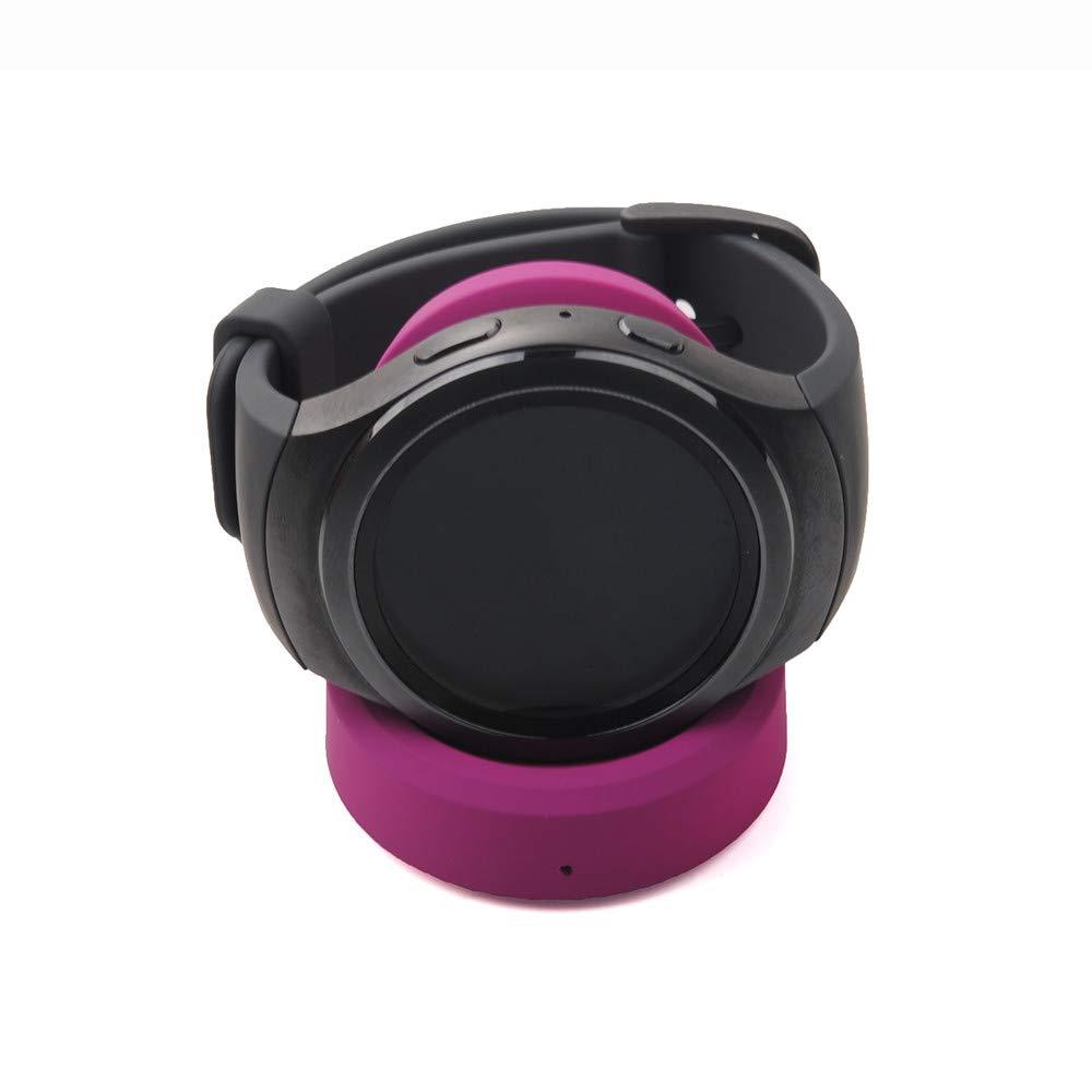 Xshuai New Quick Charge Wireless Ladestation Cradle Ladeger/ät f/ür Samsung Gear S3 Classic//Frontier F/ür Smartphone ladeger/ät batterien ladeger/ät USB Rosa