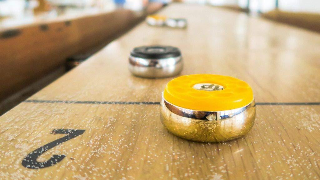 2-1//4 Shuffleboard Pucks Dia.58mm TORPSPORTS Matt surface Set of 8 Orange//Black
