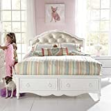 Samuel Lawrence Furniture SweetHeart Upholstered Bed in White - Twin