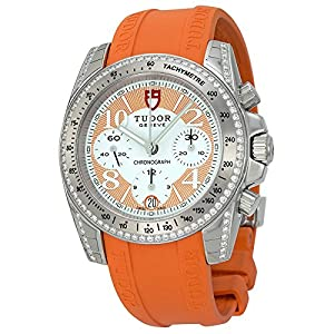 51f1boMJuzL. SS300  - Tudor Chronograph Dial Diamond Orange Rubber Ladies Watch 20310-WOASORS