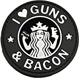 I Love Guns and Bacon Patch (Gray)