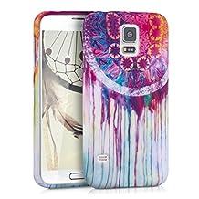 kwmobile TPU SILICONE CASE for Samsung Galaxy S5 / S5 Neo / S5 LTE+ / S5 Duos Design dream catcher watercolour multicolor dark pink white - Stylish designer case made of premium soft TPU