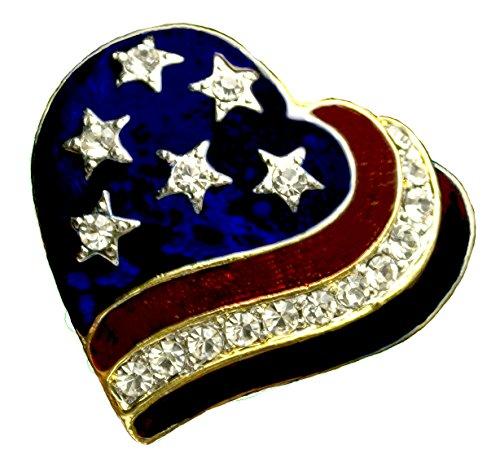 - Patriotic Heart Brooch/pin