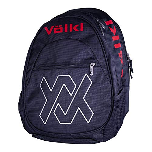 VOLKL-Team Tennis Backpack Black and Lava-(687437693984) from Volkl