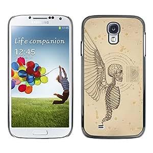 LECELL--Funda protectora / Cubierta / Piel For Samsung Galaxy S4 I9500 -- Angel Death Wings Hell Skeleton Skull --