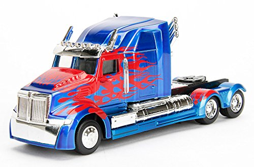 Transformers Metal Toy (JADA 1:32 Metals Transformers Optimus Prime Western Star 5700 Xe Phantom Diecast Vehicle)
