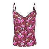 Laura Urbinati Womens Cavalli Print Silk Cami Hot Pink Cavalli 42