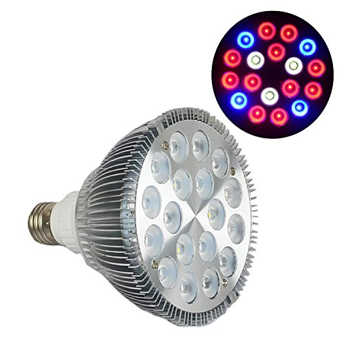 Puretime 54W LED Grow Light E27 PAR38 Plant Growing LED Light Bulb