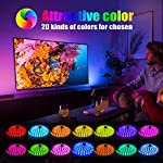 LED Strip Light, 16.4 ft Waterproof Music RGB 5050 Led Rope Lights Color Changing LED Light Strip Kit with Remote… 9