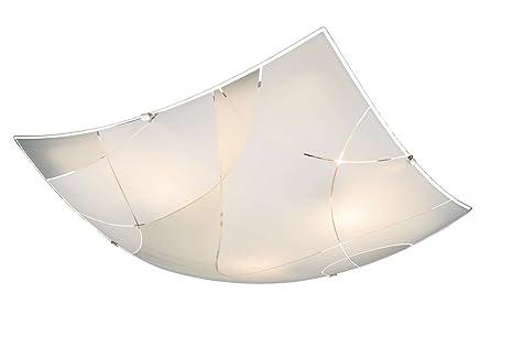 Deckenlampe 3 Flammig Flurlampe Kuchenlampe 40 Cm Glas Deckenbeleuchtung Deckenleuchte Wohnzimmerlampe Schlafzimmerlampe