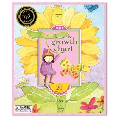 - eeBoo Hot Pink Flower Growth Chart Game