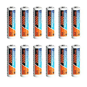 PowerDriver AA NiMH Rechargeable Batteries - 12 Pack