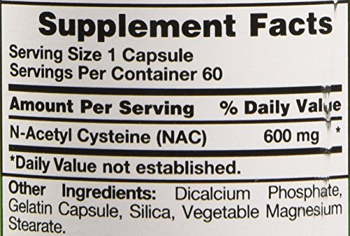 Nature's Truth Nac N Acetyl Cystine 600 mg Extract, 60 Count
