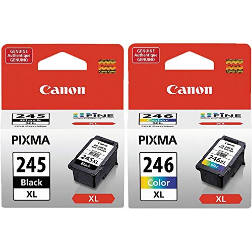 - Canon PG245XL Black and CL246XL Color Ink Cartridge Set for PIXMA MG3020, iP2820, MG2420, MG2520, MG2924, TS202, TS3120
