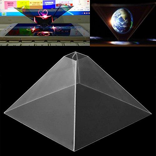 Cewaal スマートフォンホログラムプロジェクター、3Dホログラフィックディスプレイピラミッドプロジェクタービデオモバイルスマートフォン用 B078H5TH3T