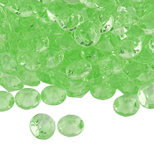 BROSCO Lot of 200pcs Wedding Decoration Scatter Diamond Table Confetti Crystals Acrylic   Color - Green