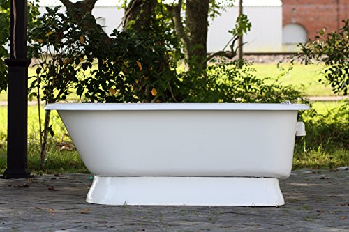 Country Oval Pedestal (1926 Refinished Standard 5' Roll Rim Pedestal Soaking Cast Iron Clawfoot Bathtub)