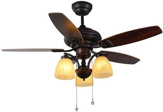 XH shop Ventilador de techo Luz de ventilador Lámpara de ...