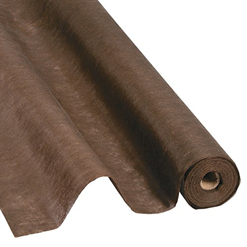Chocolate Brown Gossamer Roll 100 FT X 3 FT Wedding Aisle Decoration Table Cover, Dropback by Fun Express