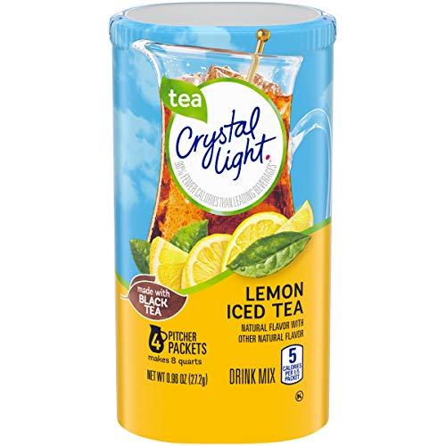 Crystal Light Lemon Iced Tea Powdered Drink Mix, 4 ct - 0.96 oz Can Baseline eComm Product Name (KHC)