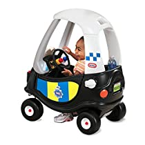 Little Tikes Tikes Patrol Police Car Refresh Andadores, Negro, Color Blanco (172984E3)