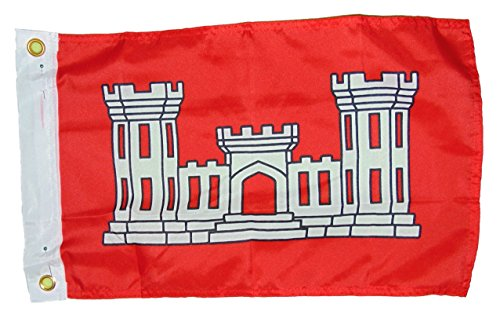 Army Corps Of Engineers Vessel Flag Polyester 12 X 18 Inches Boat Motorcycle Fort -