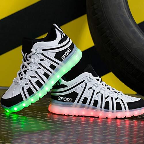 Scarpe Led Ghost Traspirante Charging Sneaker Space B Step Shine Unisex Halloween Usb Shoes Da Comfort Light Leather Ginnastica natale Velcro Dance Moda rTSCrtqw