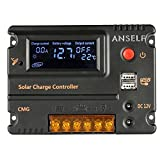 PAPACO 10A 12V/24V Solar Charge Controller Duel DC Intelligent USB