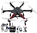 QWinOut Assembled RTF Full Set 2.4G 9Ch F550 APM2.8 GPS Compass Hexacopter Combo DIY Drone with 2-Axle Aluminum Gimbal Mount for Gopro (No Manual)