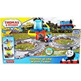 2 Item Bundle:Licensed Collectible Fisher-Price Die-Cast Metal Thomas at the Water Tower Portable Railway Take-N-Play and 1 Assorted Color Thomas Stamp