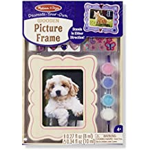 Melissa & Doug Decorate-Your-Own Wooden Picture Frame Craft Kit (fits 3.25 x 4.5 inch picture)
